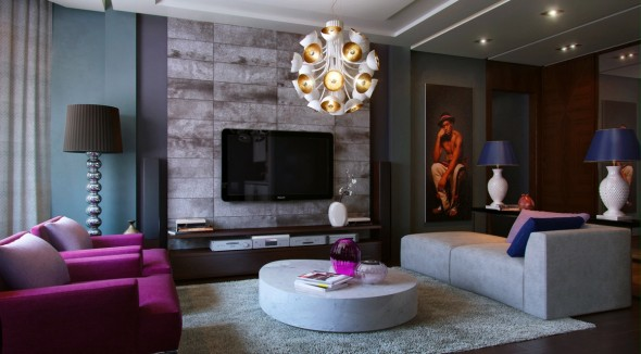 Interior Design In Purple 3