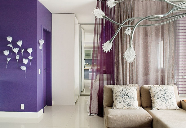 Superb Interior Design In Purple