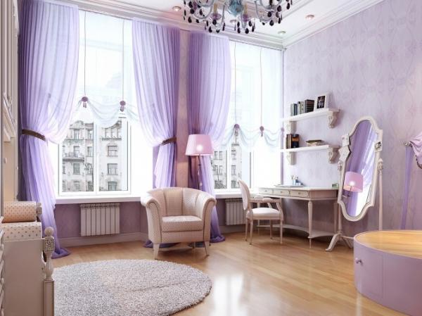 Interior design in purple 8