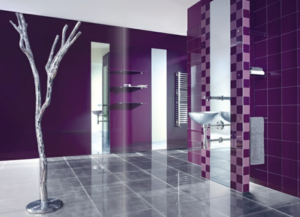 Interior design in purple 9