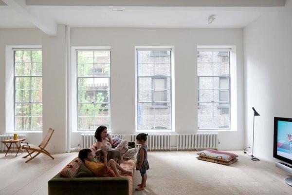 James jebbia s minimalist loft adorable home for Minimalist apartment nyc