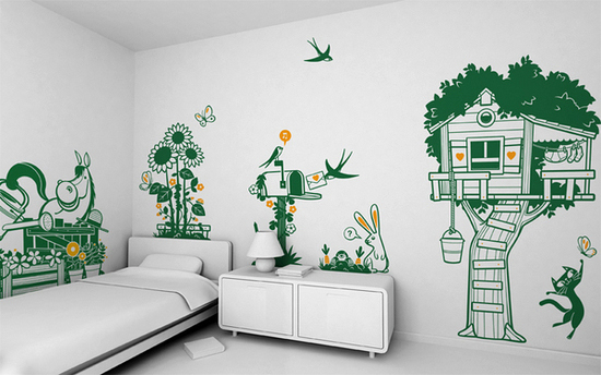 Wall Decor For Kids kids' room wall decoration: funny wall stickers – adorable home
