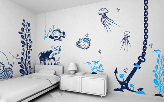 wall decoration in living room