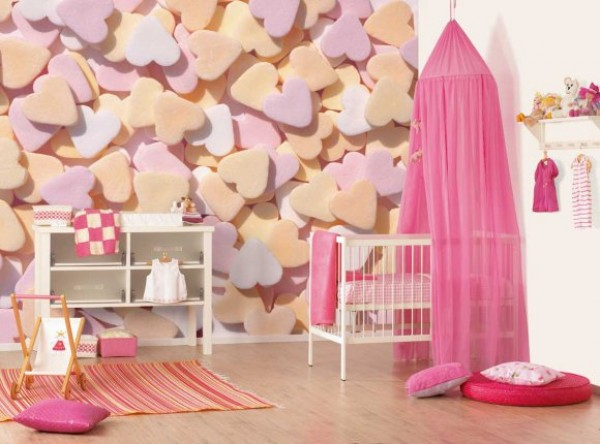 Beautiful design idea for little girl\'s room in pink