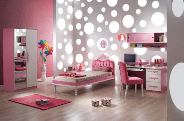 Beautiful design idea for little girl\'s room