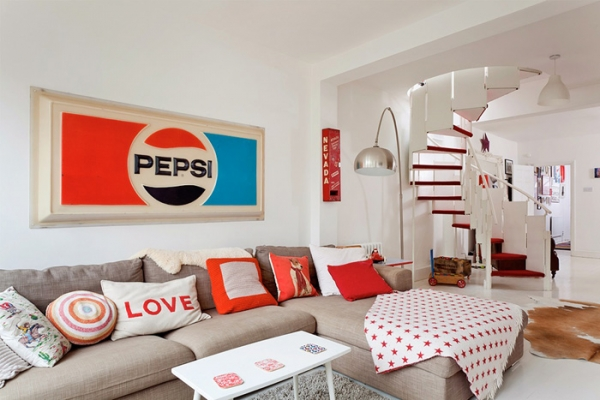 lovely-red-and-white-in-this-london-house-3
