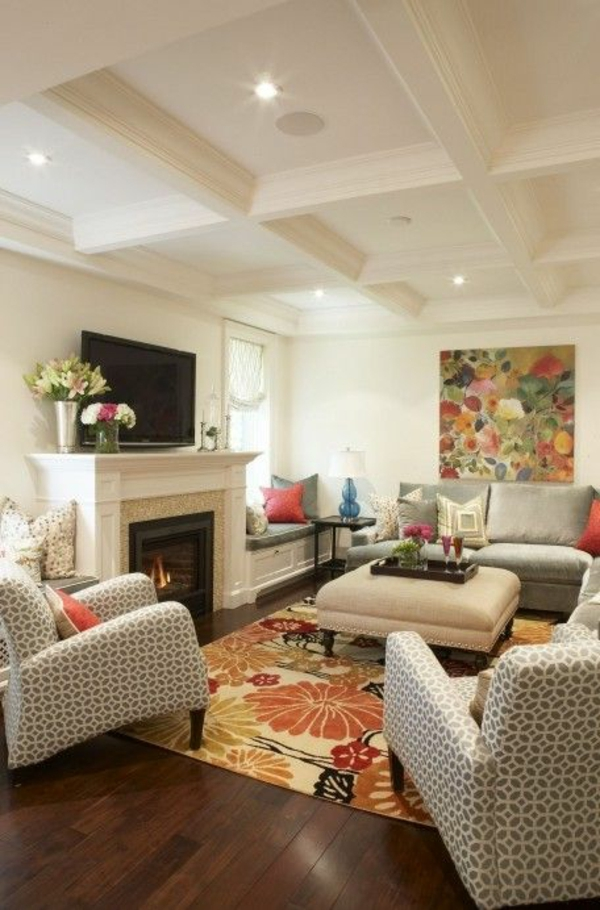 Lovely spring living room decorating ideas adorable home for Spring living room decorating ideas