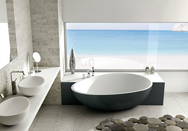 Modern bathtub design adorable home - Badewannen fotos ...