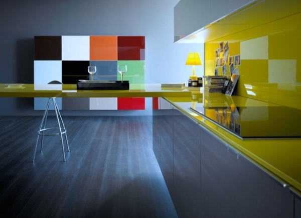 Modern colorful kitchen designs adorable home for Modern kitchen color ideas