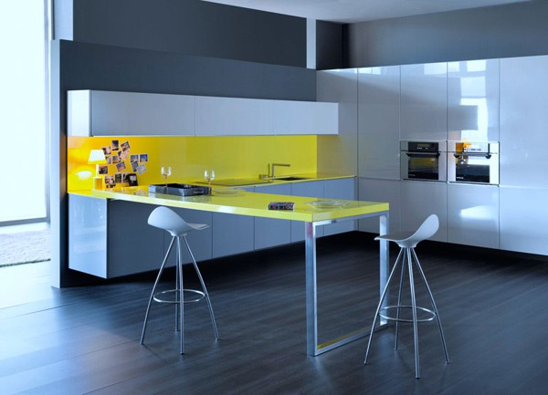 Modern colorful kitchen designs adorable home for Cocinas minimalistas