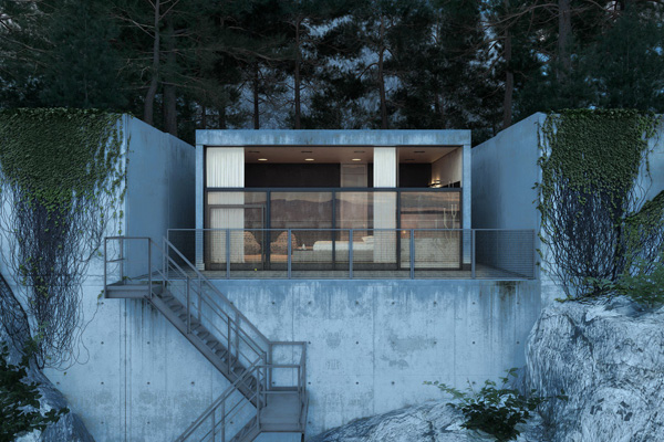 Modern Concrete House Adorable Home