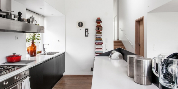 Modern Nordic house in black and white   (10)