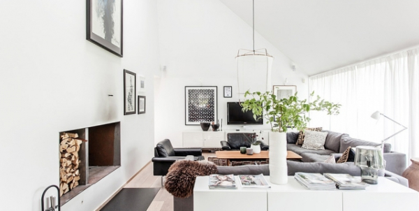 Modern Nordic house in black and white (8)