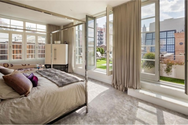 Modern penthouse in tribeca ny adorable home - Lavish white and grey kitchen for hygienic and bright view ...