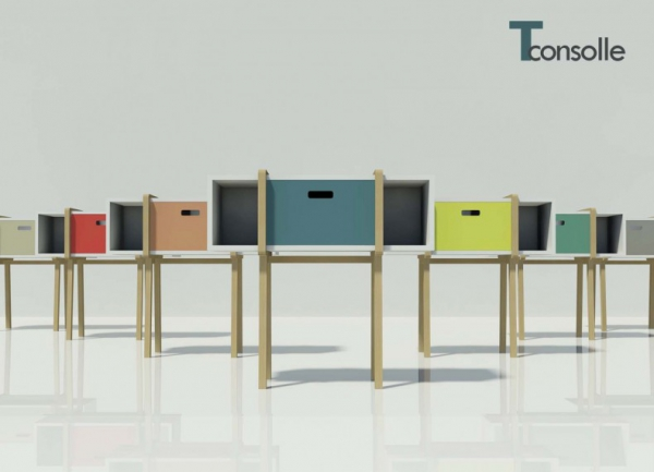 Modern wood console by Gloria Colleoni  (1)