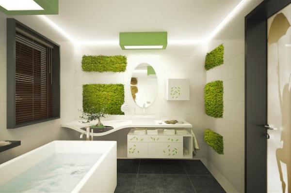 Natural Elements Bathroom Vegetation Adorable Home