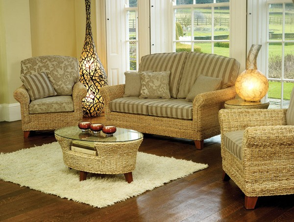 Natural home decor with rattan furniture adorable home for Home furniture and accessories