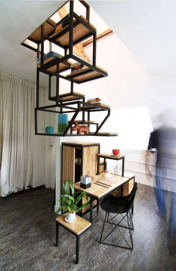Object eleve industrial explorations in staircase storage (4)