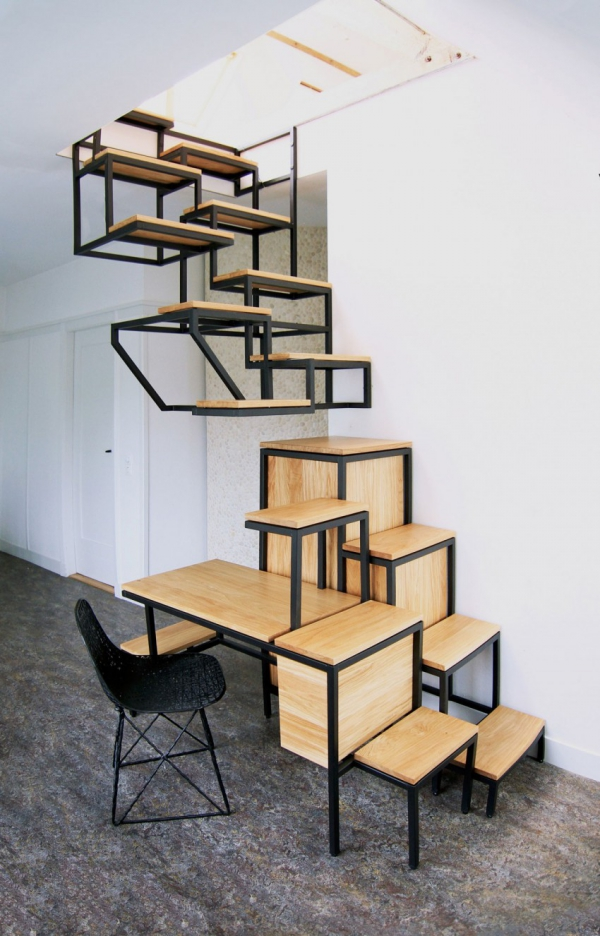Object eleve industrial explorations in staircase storage (6)