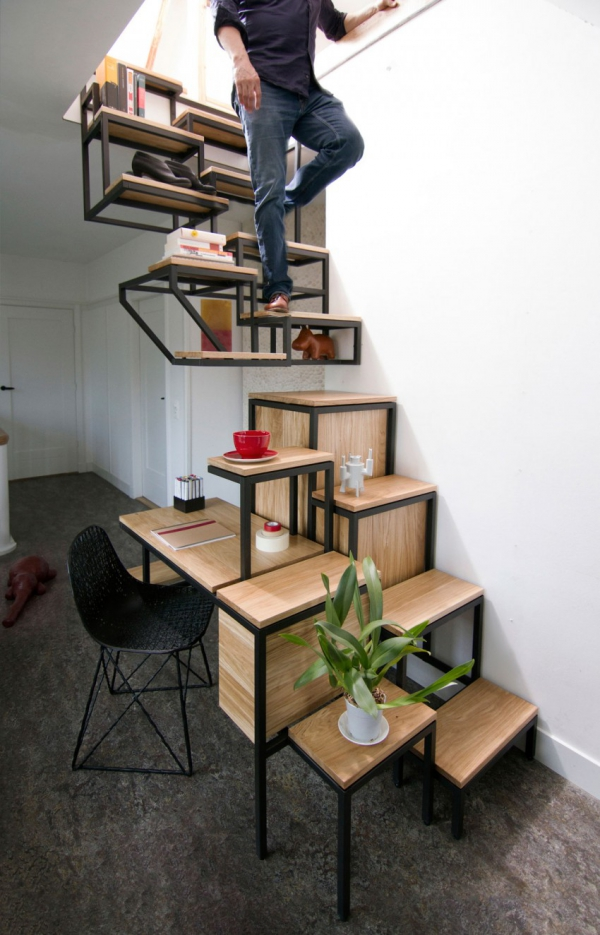 Object eleve industrial explorations in staircase storage (7)
