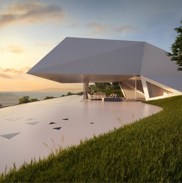 overlooking the aegean: a futuristic house – adorable home