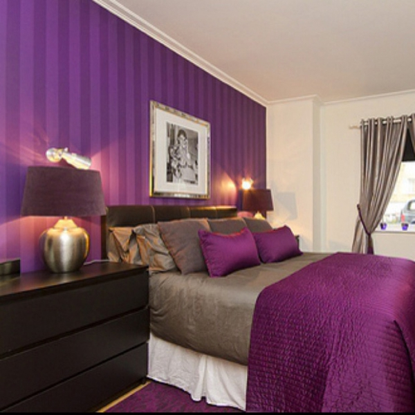 perfect purple bedrooms adorable home