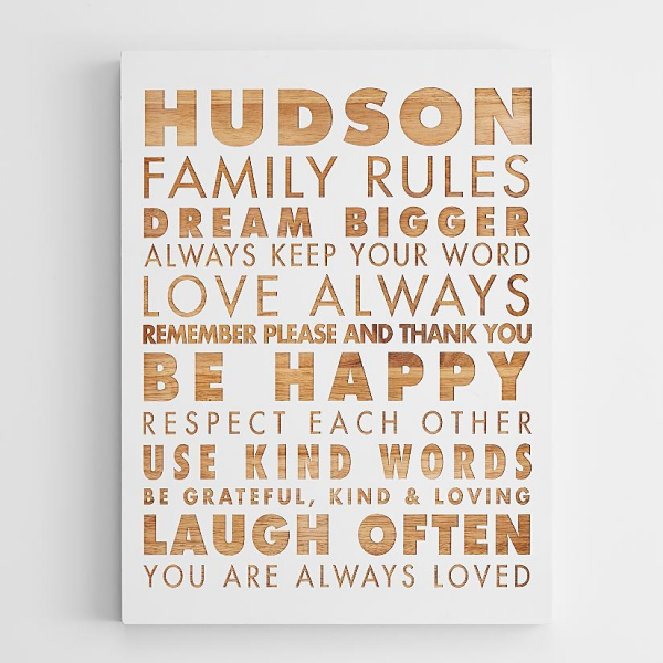 Personalized family rules wall art – Adorable Home