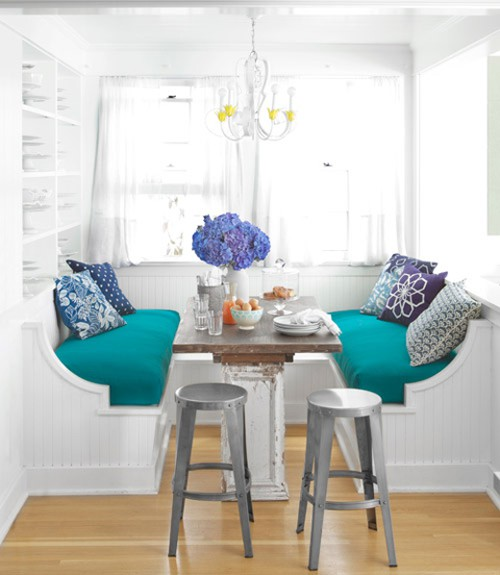 Pops of turquoise adorable home - Turquoise decorations for home ...