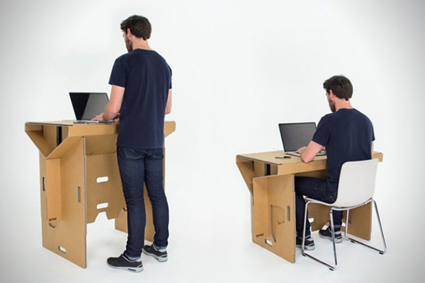 Portable cardboard desk for your folding pleasure (1)