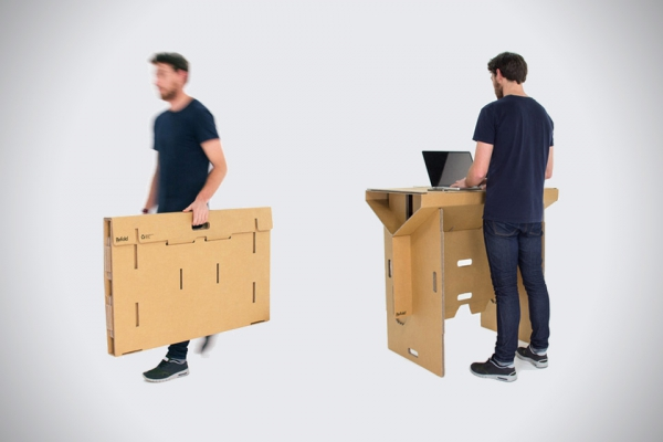 Portable cardboard desk for your folding pleasure (2)