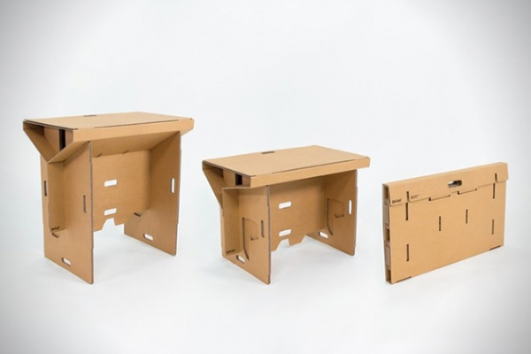 Portable cardboard desk for your folding pleasure (3)