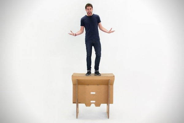 Portable cardboard desk for your folding pleasure (4)