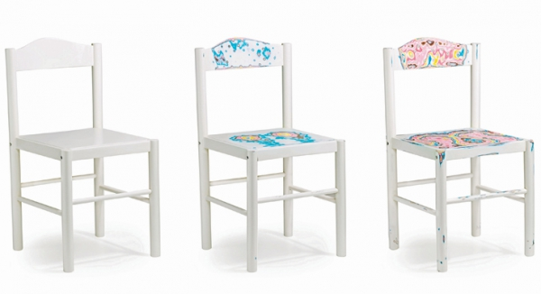 Pretty, painted and unique chairs   (1)