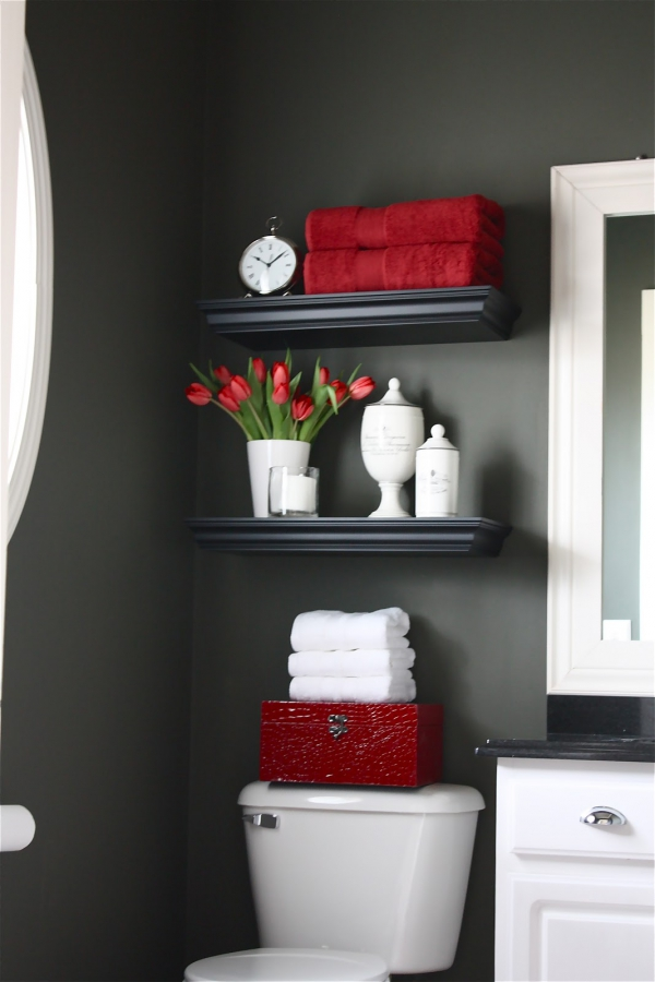 Toilet Room Design Ideas Part - 46: Quick And Pretty Toilet Decor (1)