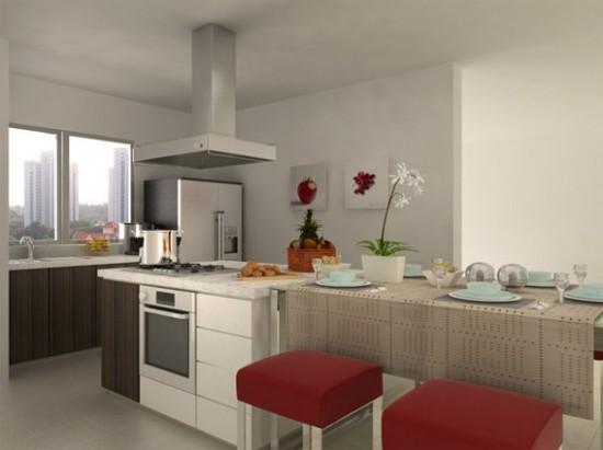 Red kitchen designs adorable home - Como de corar mi casa ...