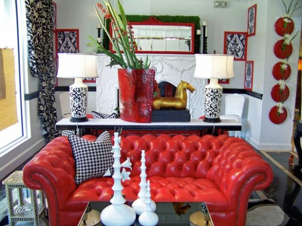 Red living room design ideas for Red and blue living room ideas