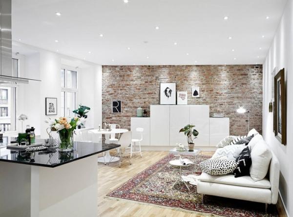 Modern urban apartment in sweden adorable home for 30 m2 salon dekorasyonu