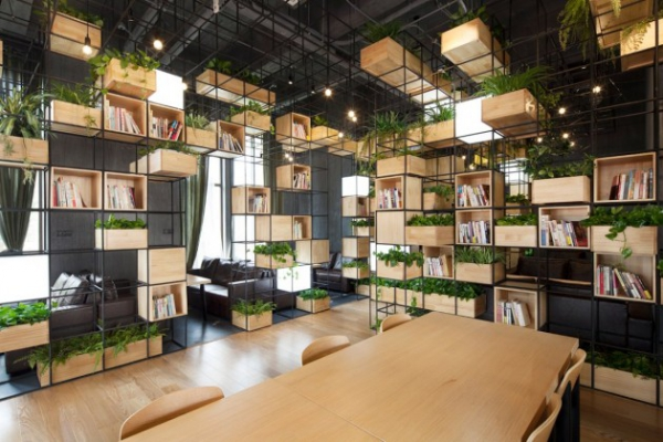 Repurposed café design in Beijing (1)