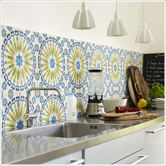 Restyle with retro kitchen tiles 10