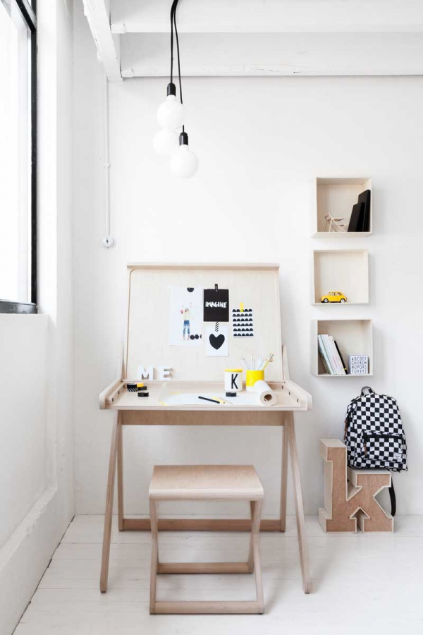 Scandinavian Style Desk scandinavian style desk and stool from rafa-kids – adorable home