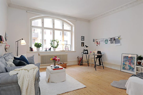 Scandinavian style in the living room adorable home for Wohnzimmer scandi style