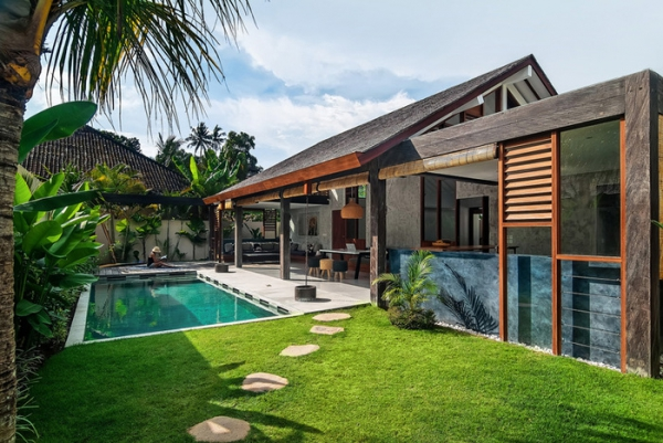 shaking up the routine modern tropical villa in bali adorable home rh adorable home com Modern Hawaiian House Modern House On Hill