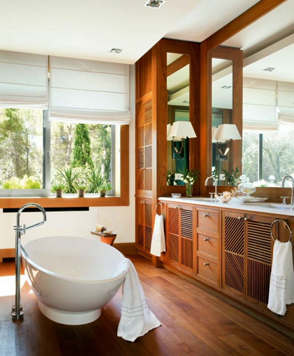 Simple and beautiful wood bathroom adorable home - Salle de bain nature zen ...