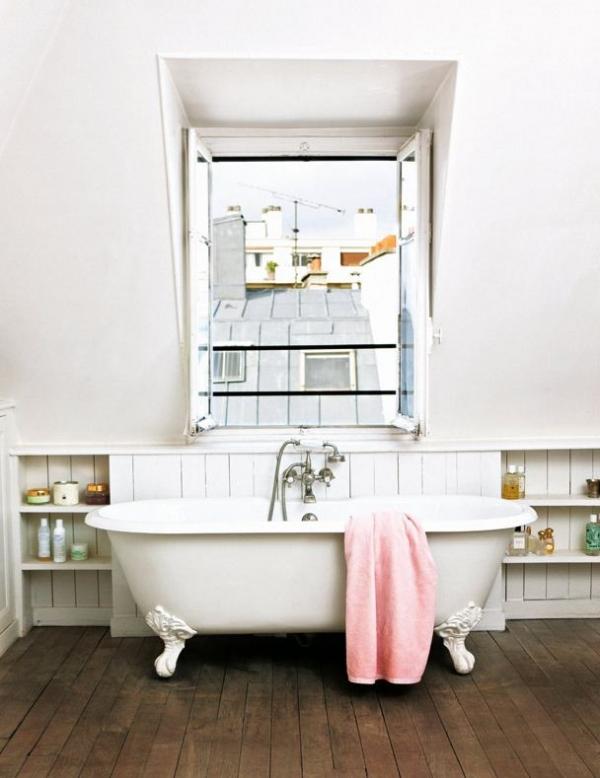 Paris Style Bathroom Decor: Small Apartment Design In Paris