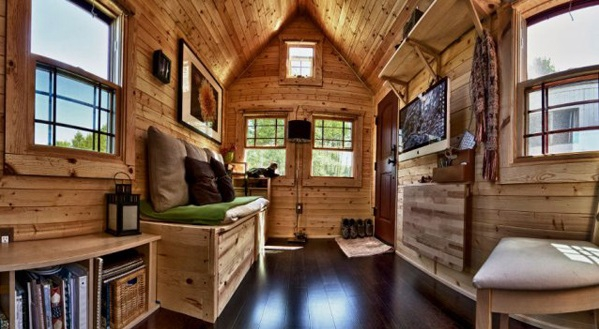 Small house on wheels adorable home for Small house design on wheels