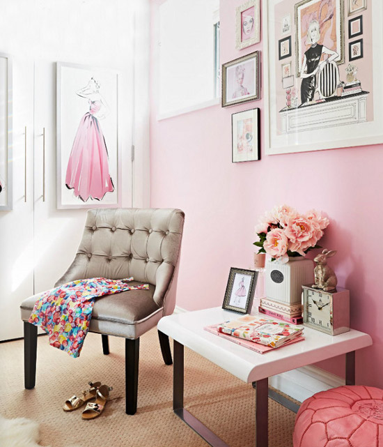 21 Feminine Home Office Designs Decorating Ideas: Sophisticated And Glamorous Feminine Design