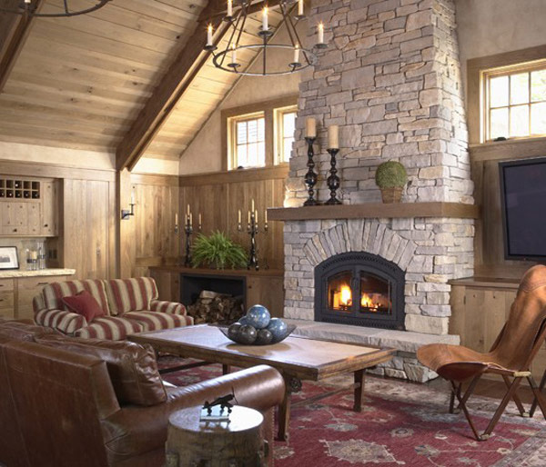Fireplaces are used not only for heating but also for decorating home interior. Take a look at our indoor stone fireplaces collection for inspiration!