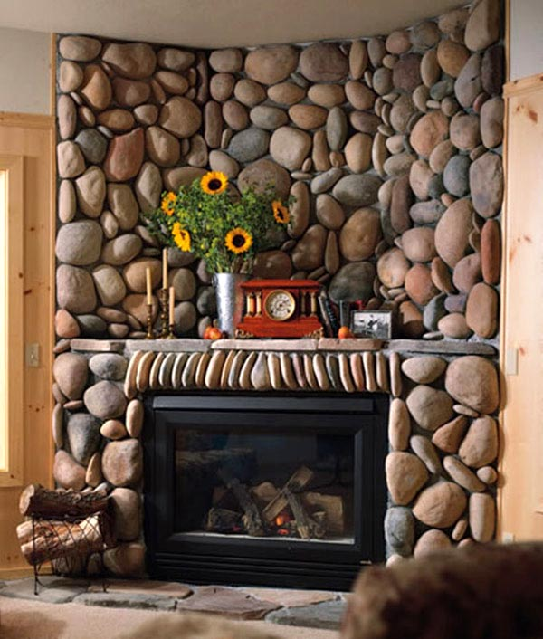 30 Indoor Stone Fireplaces Adorable Home