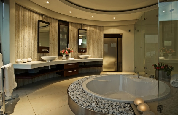 House cal a stunning modern mansion adorable home for Master bathroom mansion