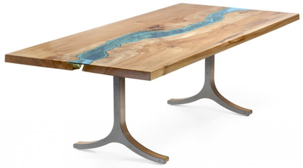 Stunning reclaimed wood tables adorable home for Table a manger bois brut